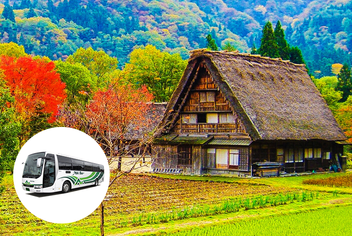 Shirakawago area regular sightseeing bus
